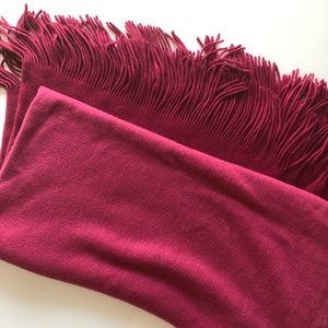 West Elm Fuchsia Ombré Throw Blanket